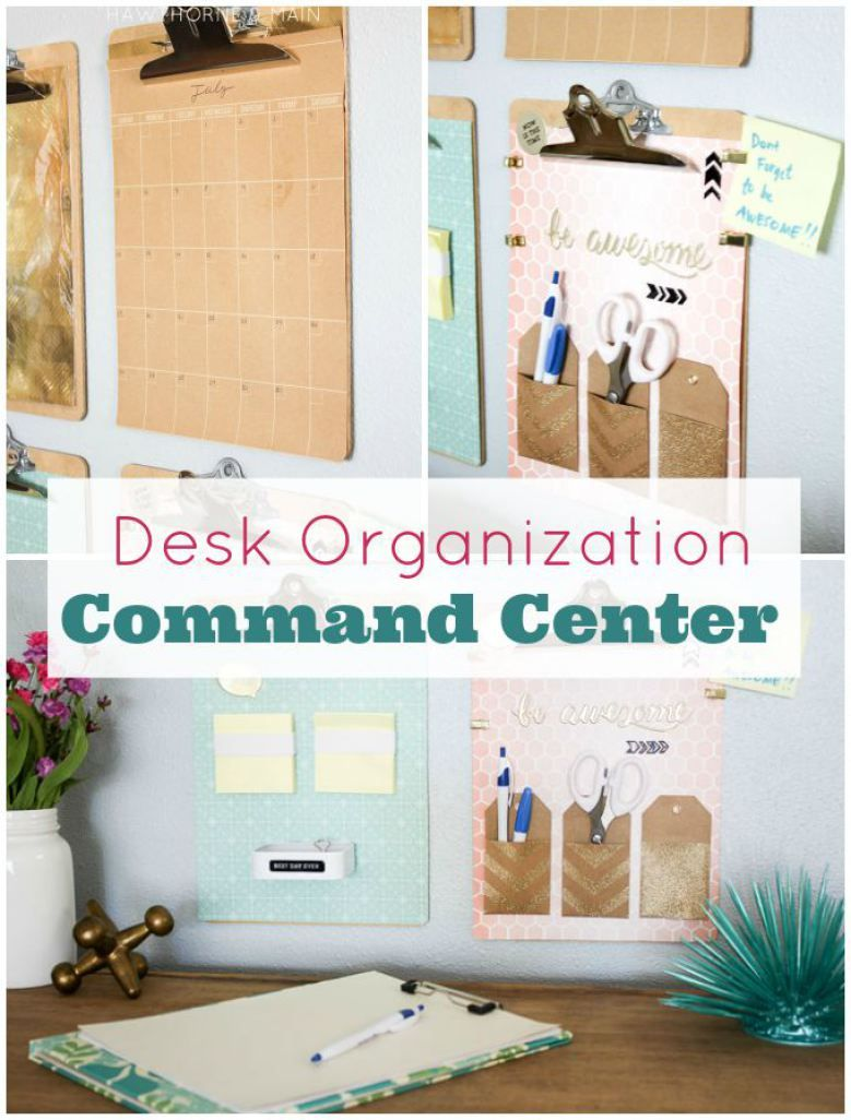 Desk Organization Command Center | Desks, Office spaces and ...