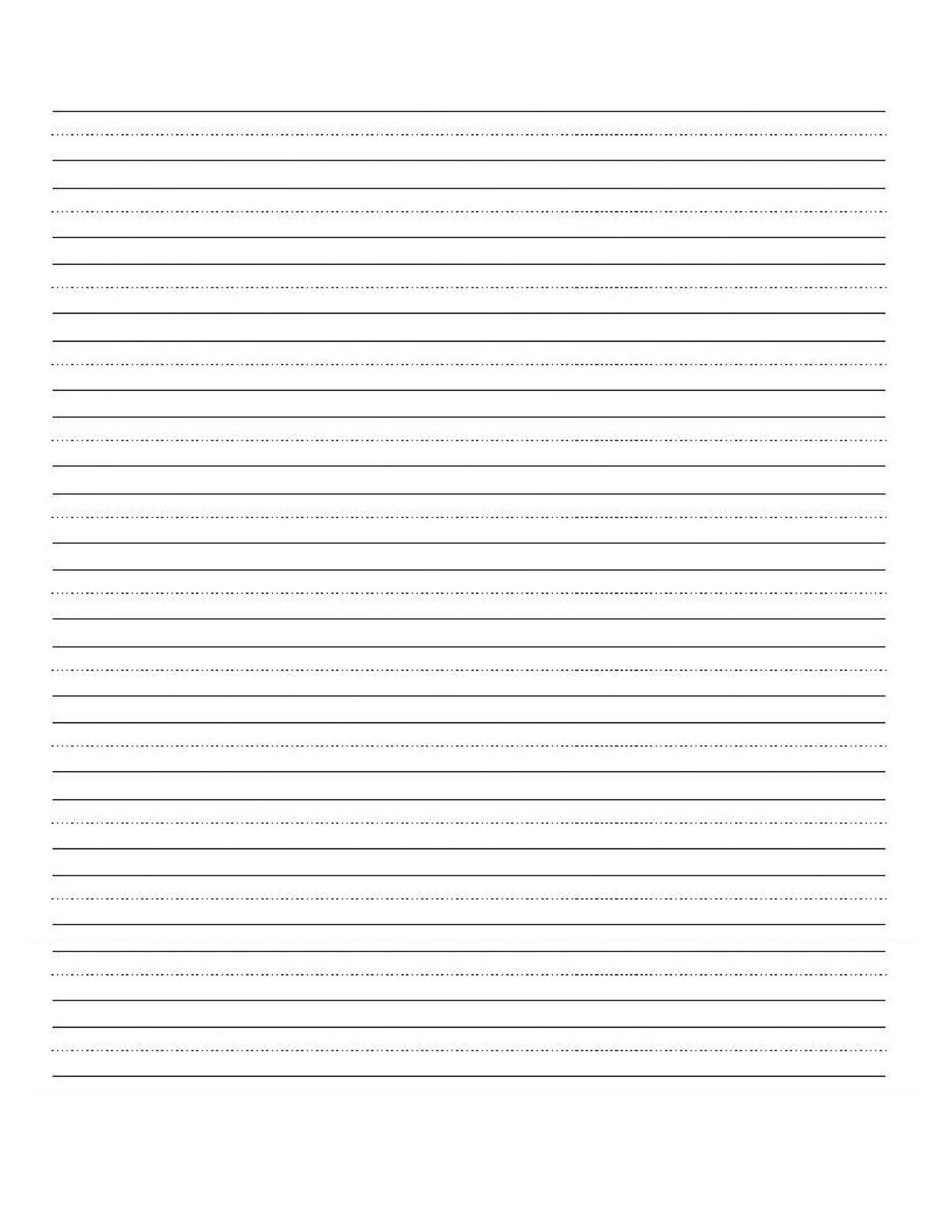 Blank Handwriting Worksheets For Kindergarten