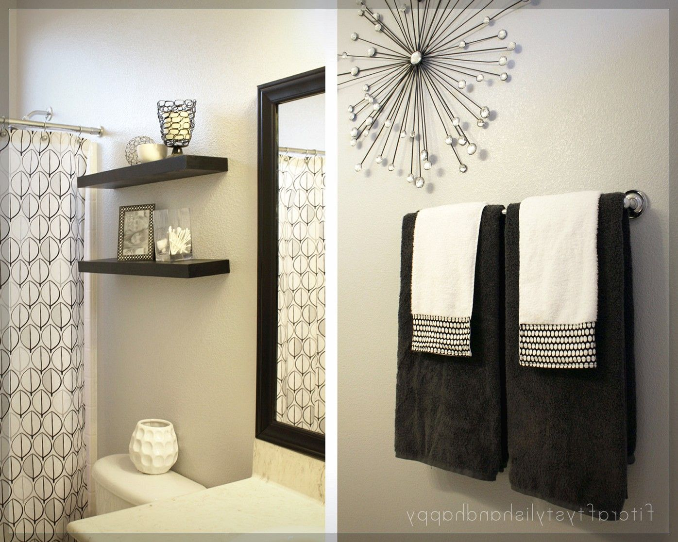black and white bathroom wall decor | ideas | Pinterest | Bathroom ...