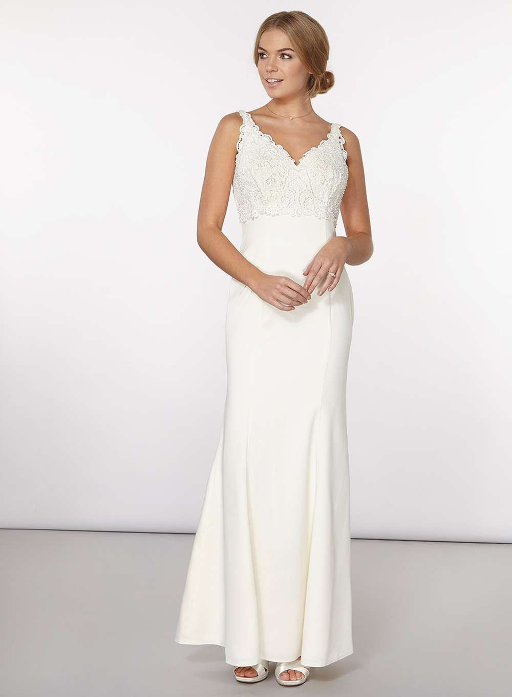 3febac6c498099 Wedding dresses available on the high street and online - Dorothy Perkins  £150 sizes 8 -18   Ivory Alessandra Bridal Dress