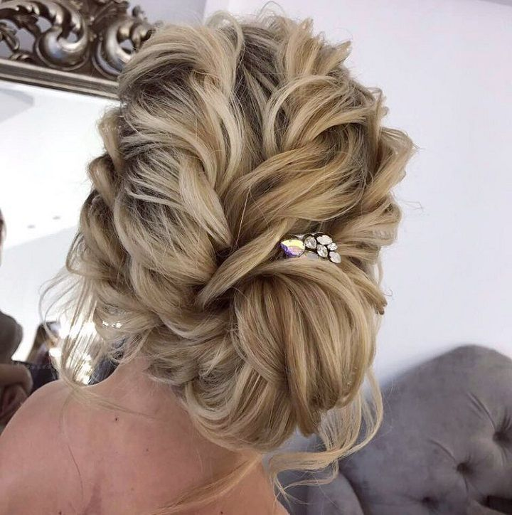 Loose Wedding Hairstyles: Loose Braids + Messy Updo Wedding Hairstyle Inspiration