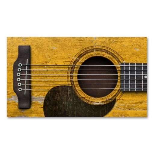 Aged And Worn Old Acoustic Guitar With Pickguard Zazzle Com Acoustic Guitar Acoustic Guitar Strap Guitar