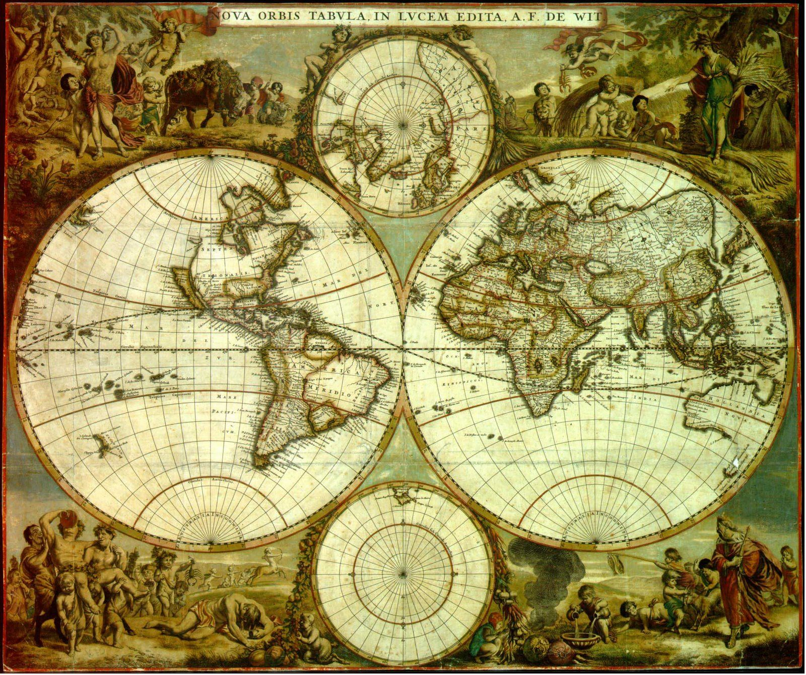 World Map 17th Century Description Ancient world