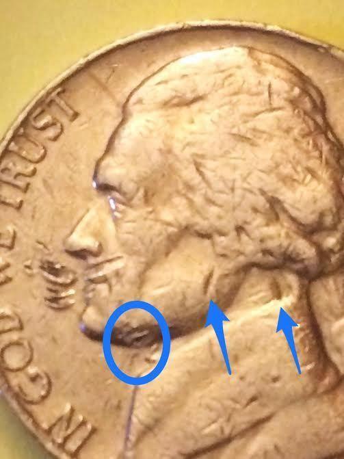 1977 Jefferson Nickel Lamination Error Coin | Coins | Error coins