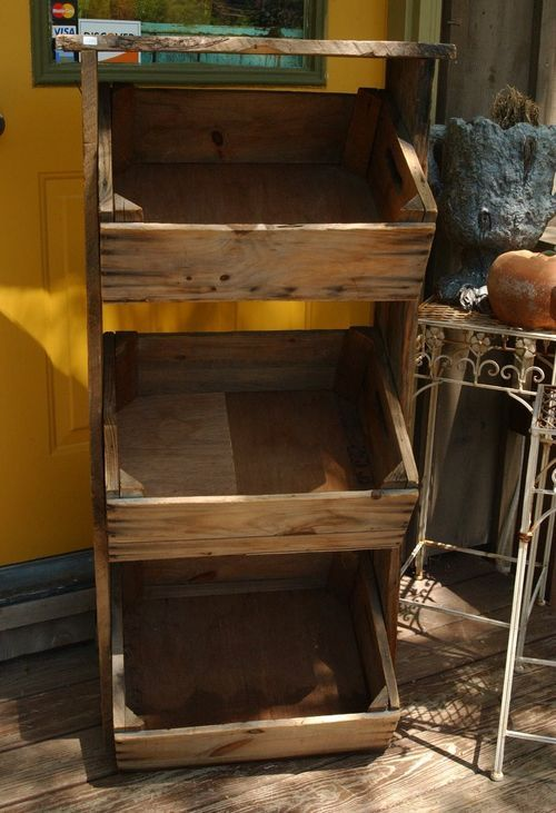 Wooden Crate Standing Shelf - Great DIY Project...great ...