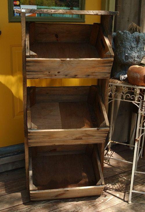 Vintage Farmhouse Wooden Apple Crate Farm Market Display Stand Wooden Apple Crates Wooden Crate Apple Crates