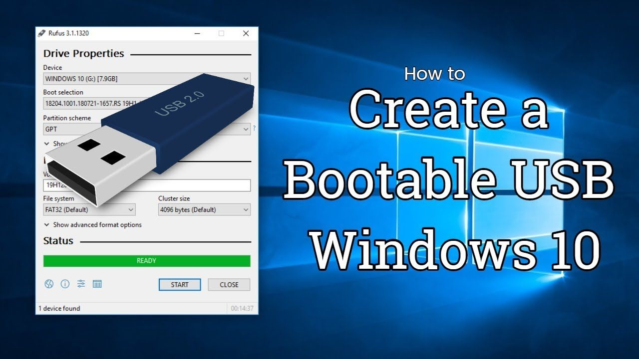 How To Create A Bootable Windows 10 Usb With Rufus Create a