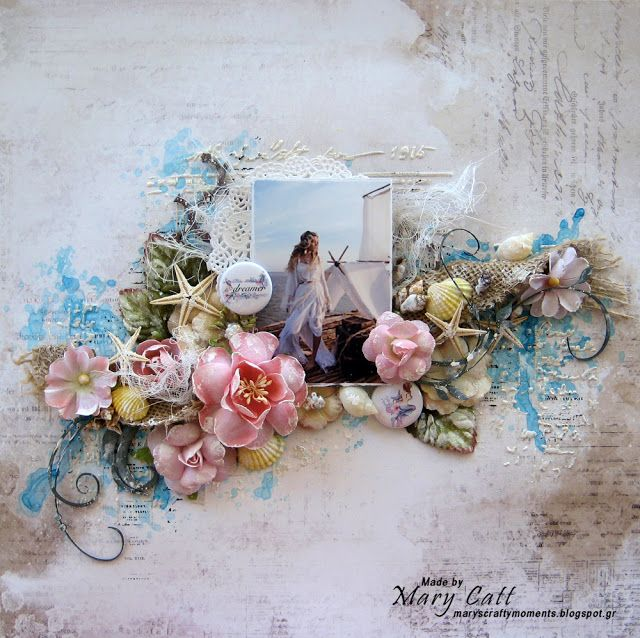 Mary's Crafty Moments: ''Dreamer'' - GD Layout for Cuts2luv August Inspiration