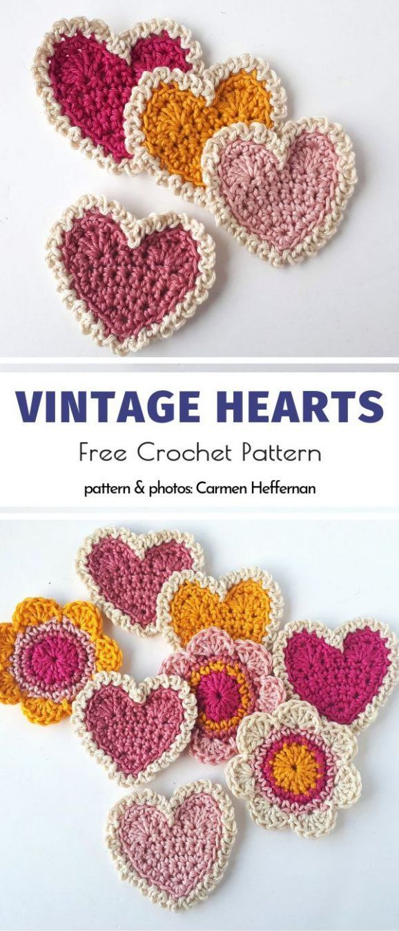 Sweet and Easy Crochet Applique Free Patterns images
