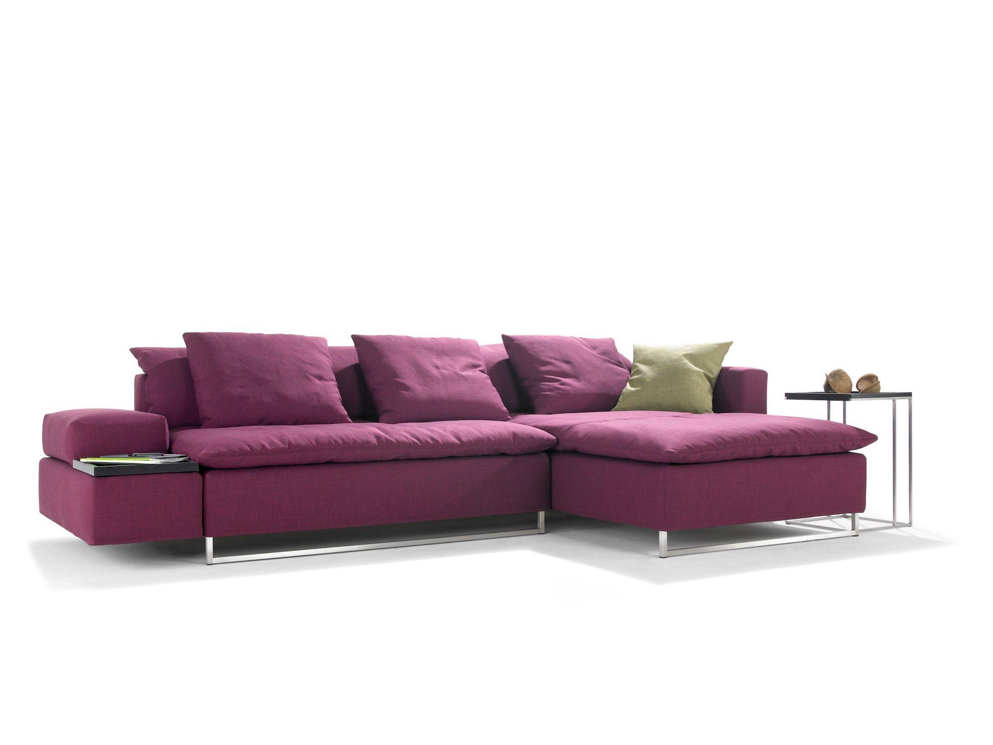 Polstermöbel Färben sofa als wohnlandschaft oder schlafcouch stoff magenta in