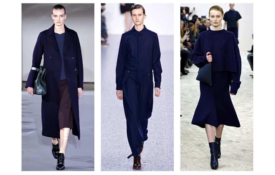 From left to right: Dries Van Noten, Chloé and Céline Also seen at Hermès, Nina Ricci, Calvin Klein, Paul & Joe