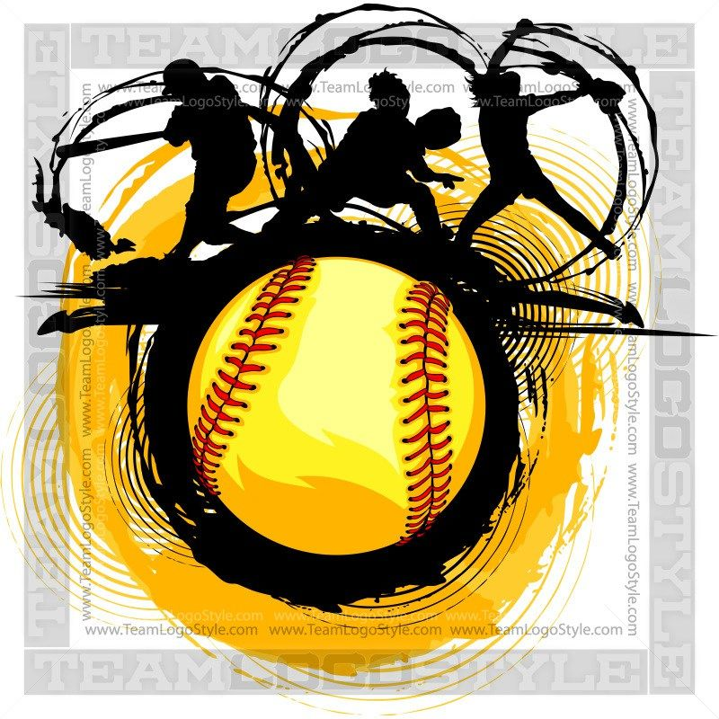 Fast Pitch Softball Design Clip Art Graphic Fastpitch