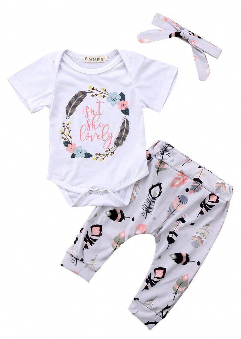 Newborn Baby Onesies  Newborn Girl Summer Clothes  New Born Baby