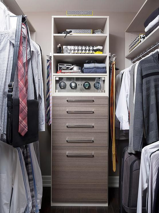 walk in closet with watch cabinet closets closet. Black Bedroom Furniture Sets. Home Design Ideas
