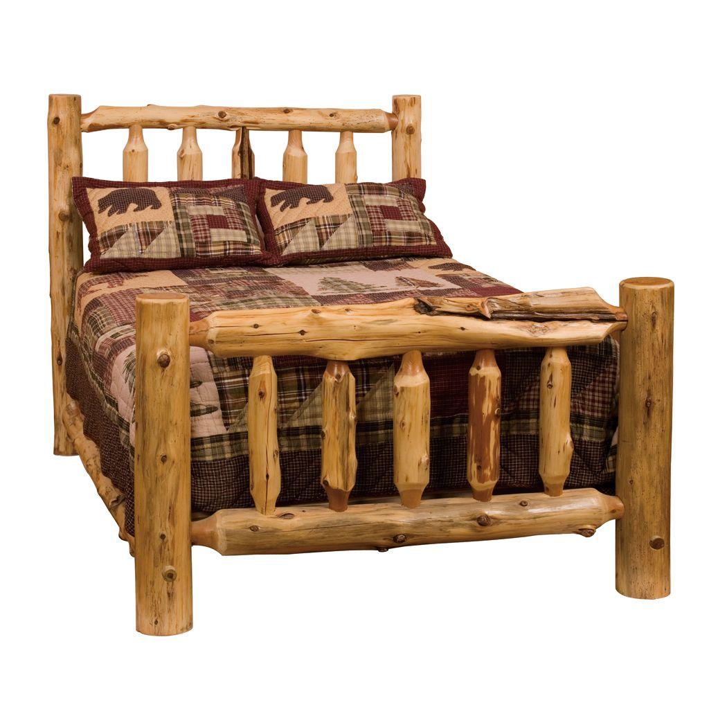 Fireside lodge furniture cedar traditional log bed vc atg