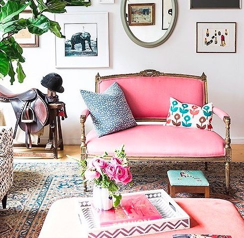 Patterns combinations. Colors: pink blues greens location: living ...
