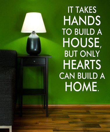 Hearts U0026 Hands Quote On Beautiful Emerald Wall. #Pinspiration @Brashears  Furniture