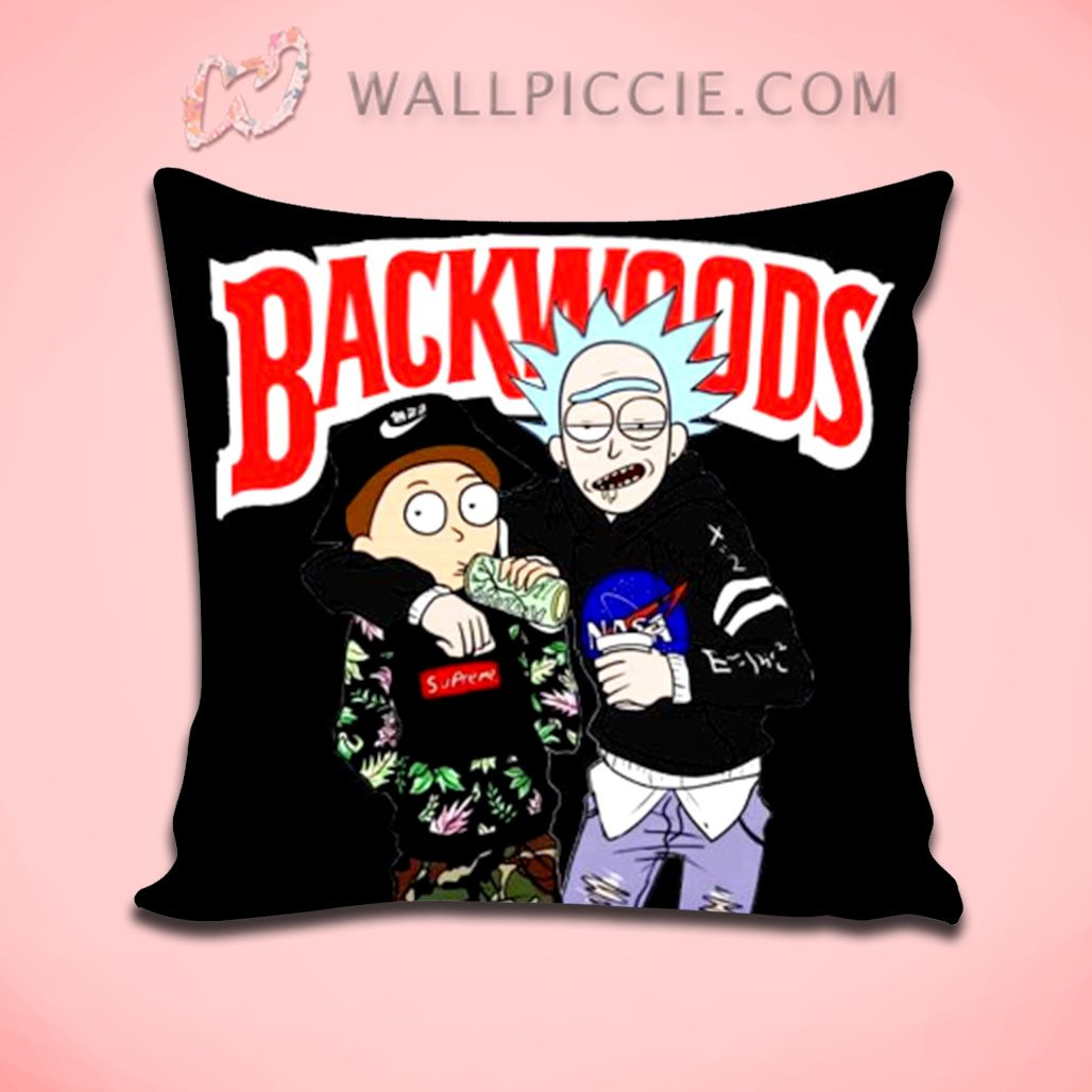 Rick Morty Backwoods Decorative Pillow Cover Decorative