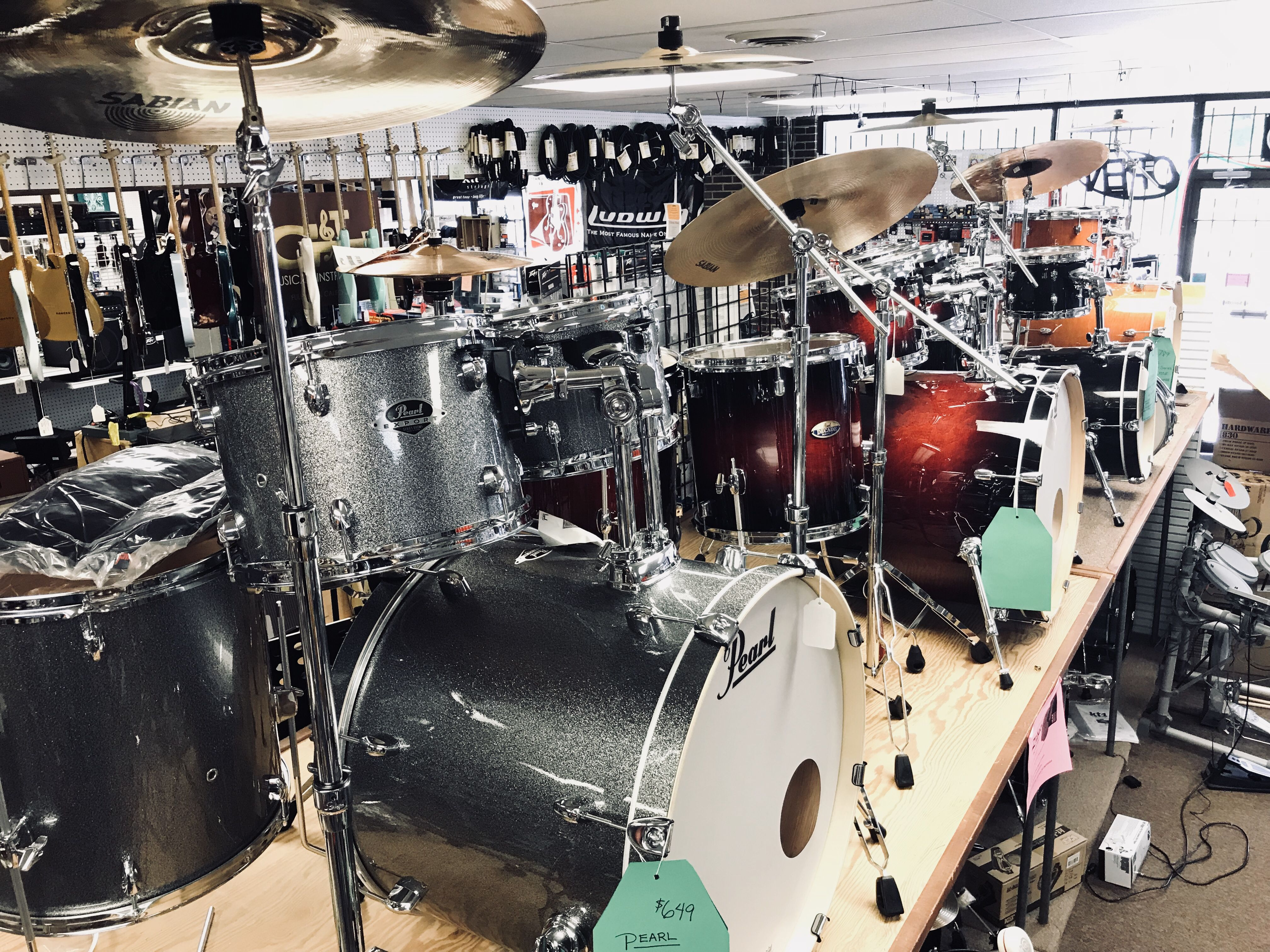 Complete sets with cymbals available at tillman music rock