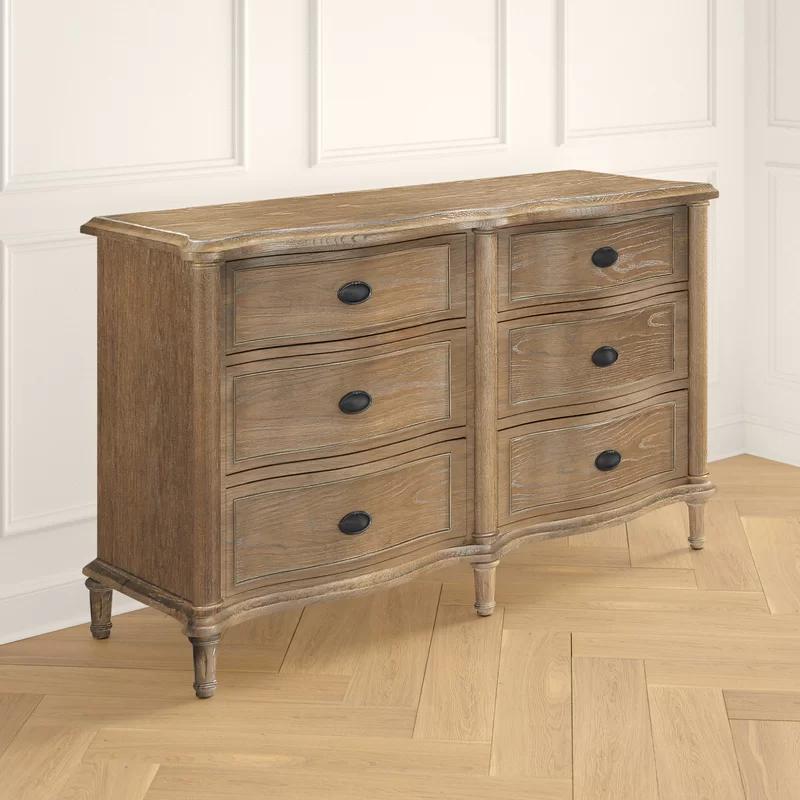 Romaine 6 Drawer Double Dresser Reviews Joss Main In 2021 Double Dresser Small Dresser Dresser