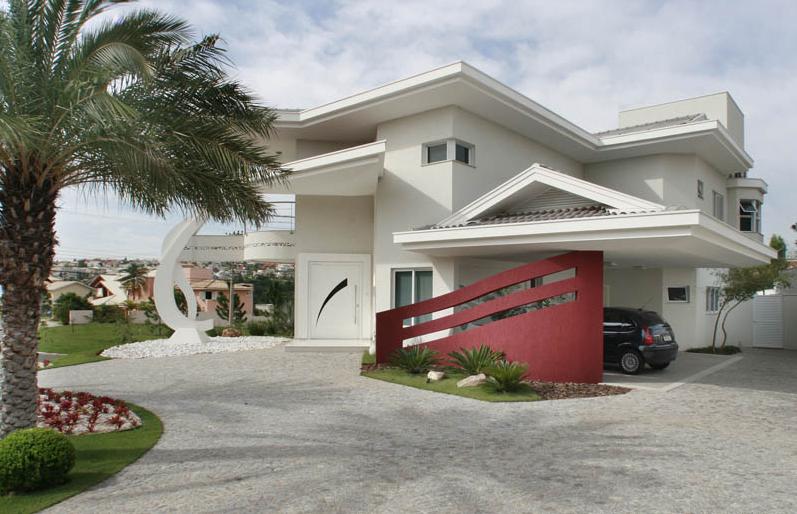 Fachadas de casas de esquina veja modelos modernos e for Fachadas de casas modernas 1 pavimento