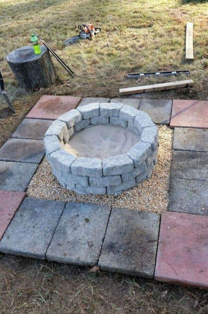 08 Gorgeous fire pit backyard ideas. #firepitbackyardideas #diyfirepit