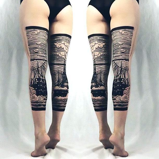 Photo of Best Back of Leg Tattoo Idea