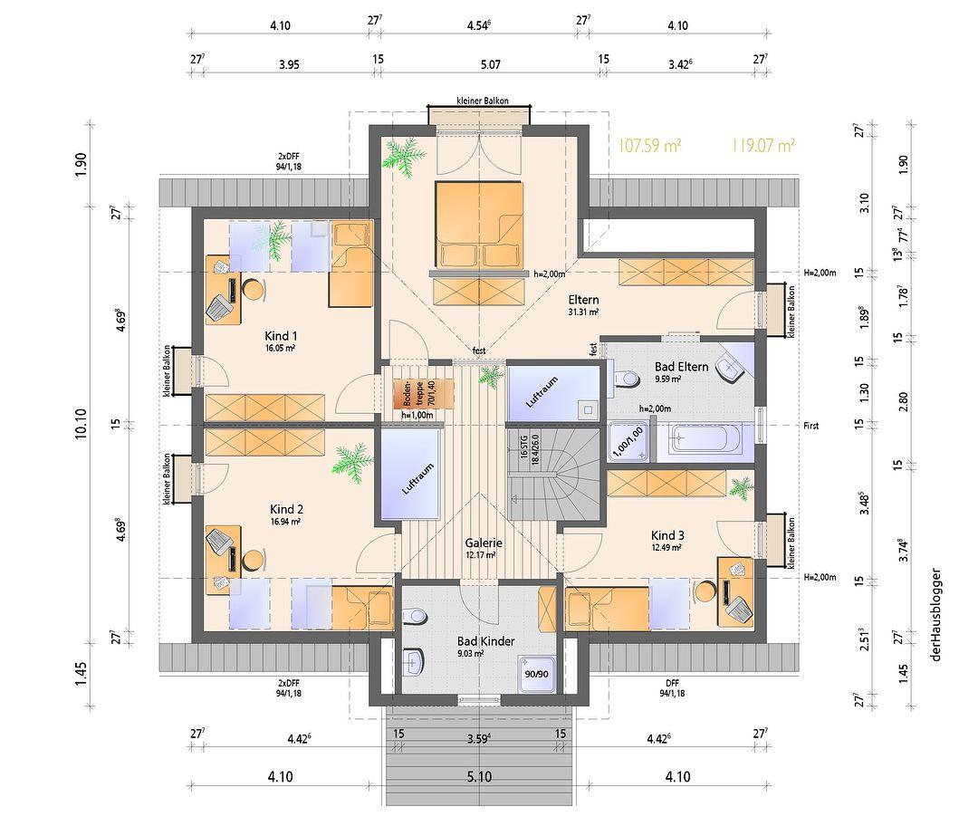 Das knapp 236 m² große Satteldachhaus hat einen selbständigen Maler für …  – Architektur