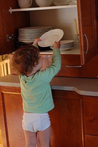 """""""Practical Life for the toddler - emptying the dishwasher"""" from the Montessori ici blog!"""