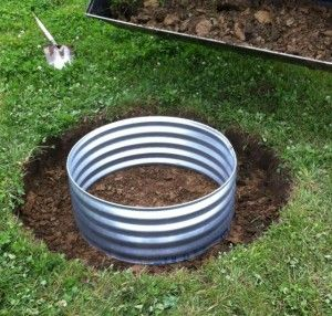 How To Install A In Ground Fire Pit Ring Metal Fire Pit Ring In Ground Fire Pit Fire Pit Designs