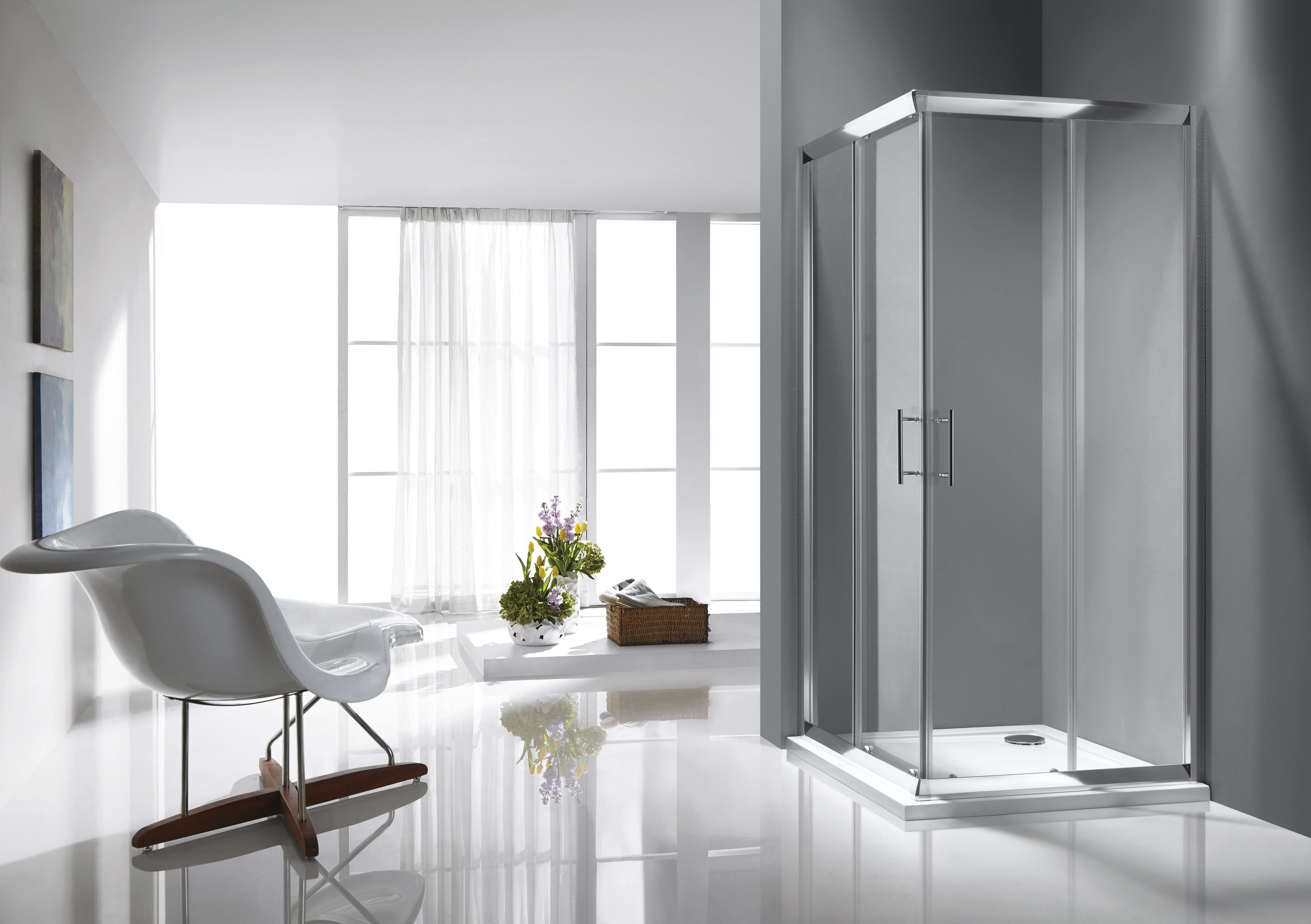 Rosery Shower Doors With Easy Clean Toughened Glass Exclusively Available From Tubs Tiles In Ireland Vienna Apartment Beautiful Bathrooms Interior