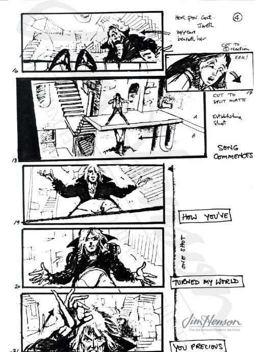 Storyboard Page By Martin Asbury For The Escher Scene From