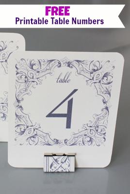 Diy Table Numbers Holders Diy Table Numbers Printable Table Numbers Diy Wedding Table