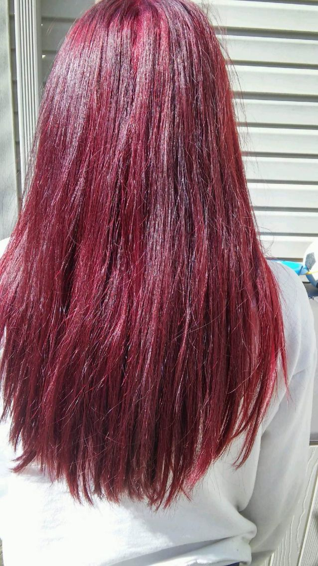 Red hair loreal hicolor highlights magenta red violet ...