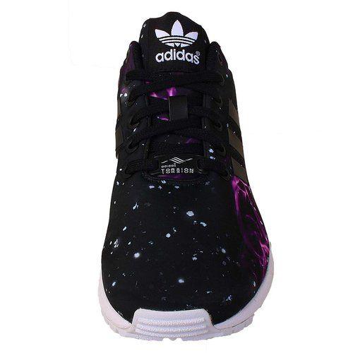 Amazon.com: Adidas Women's ZX FLUX W, GALAXY-BLACK/PURPLE ...
