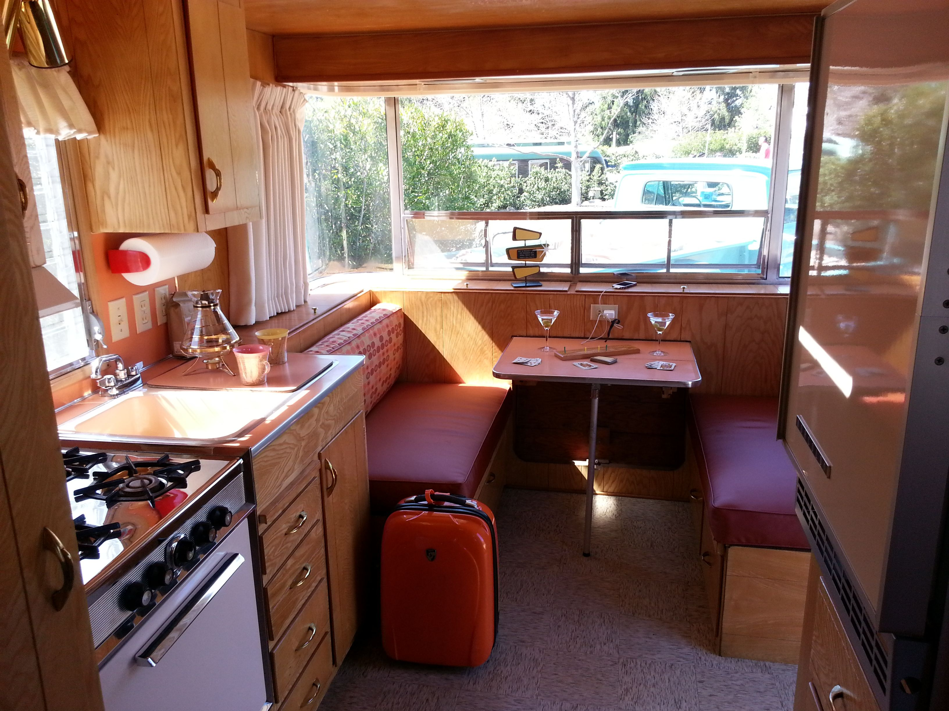Interior Front Holiday House Vintage Trailer Travel House Vintage Camping Holiday Home