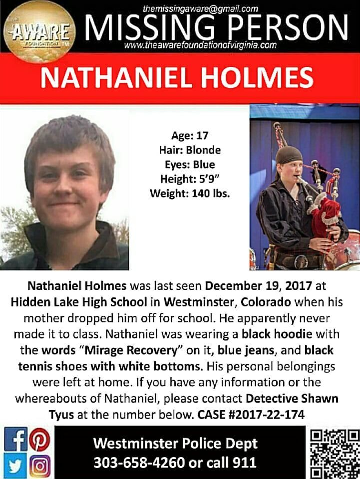 Find Missing Nathaniel Holmes! Missing Persons Please Find Me - missing person template