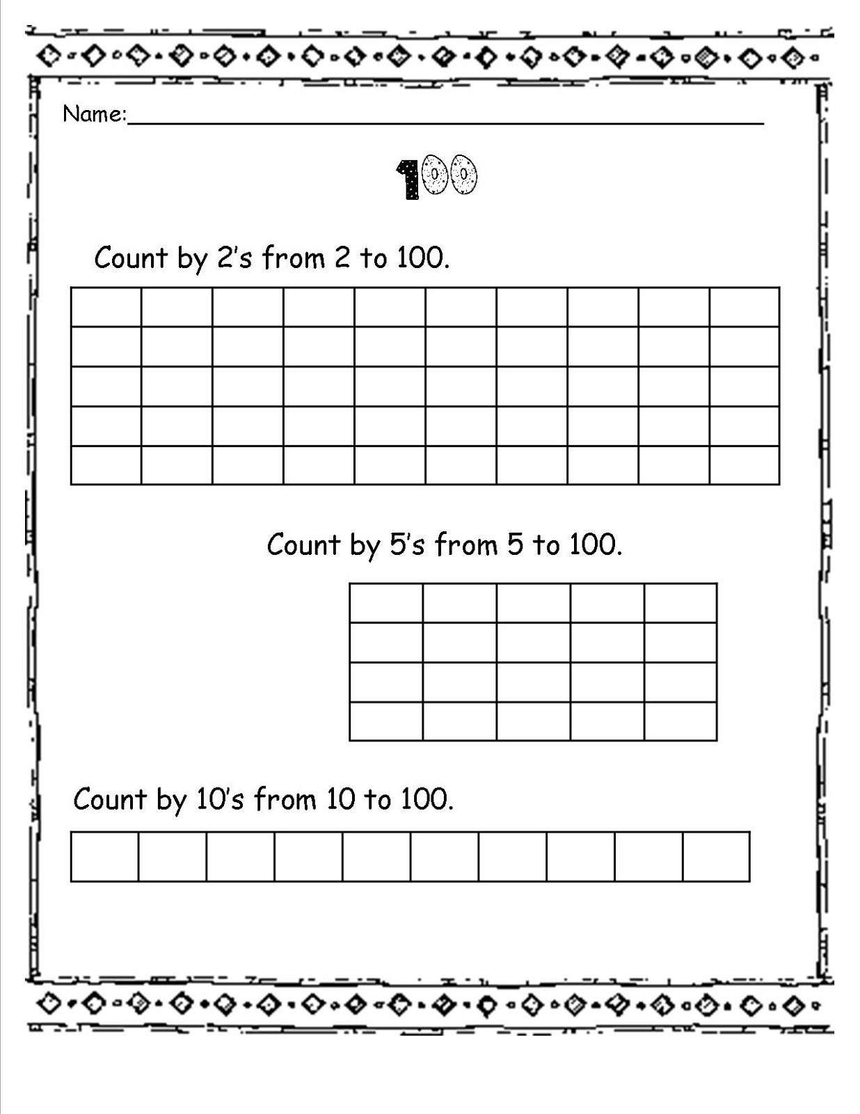 Skip Count Worksheets For Enjoyable Math Learning
