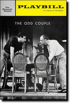 Playbill Cover for The Odd Couple at Plymouth Theatre - March 1965  I know it isn't a musical but I saw it as Standing Room only in its second week and i never had so much fun on Broadway