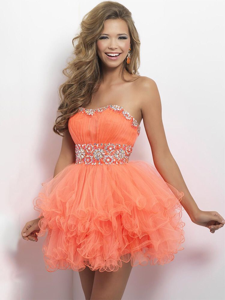 Orange short prom dress. Found this at episode at Ross park mall ...
