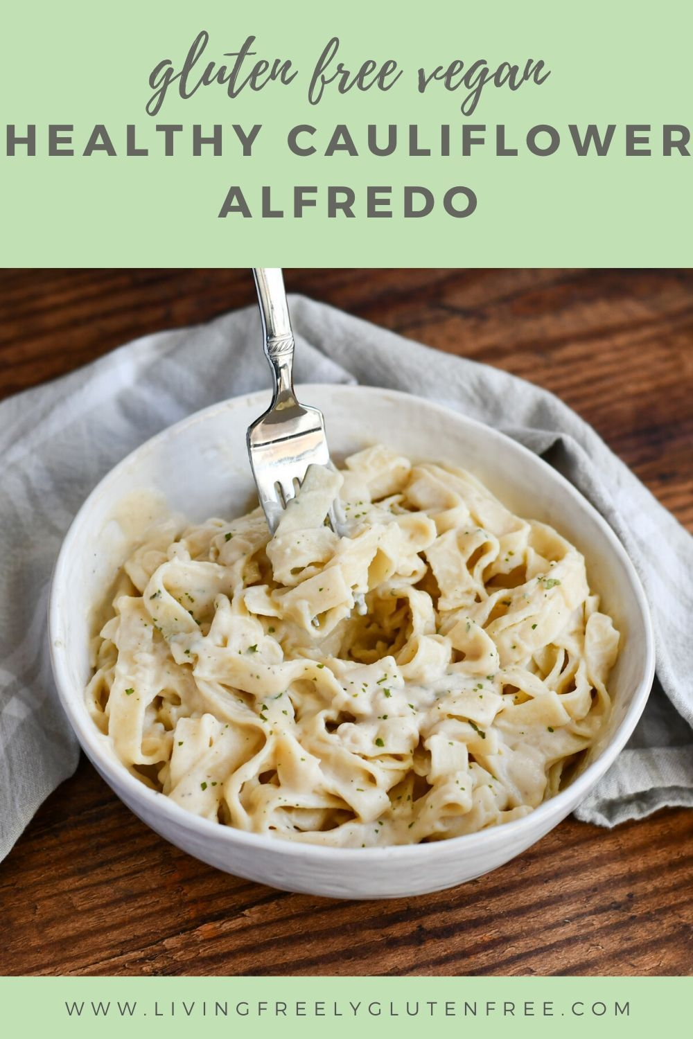 This Healthy Alfredo Sauce Is The Perfect Creamy Vegan Sauce To Smother Your Pasta Packed With In 2020 With Images Gluten Free Recipes Easy Dinner Cauliflower Alfredo Sauce Recipe