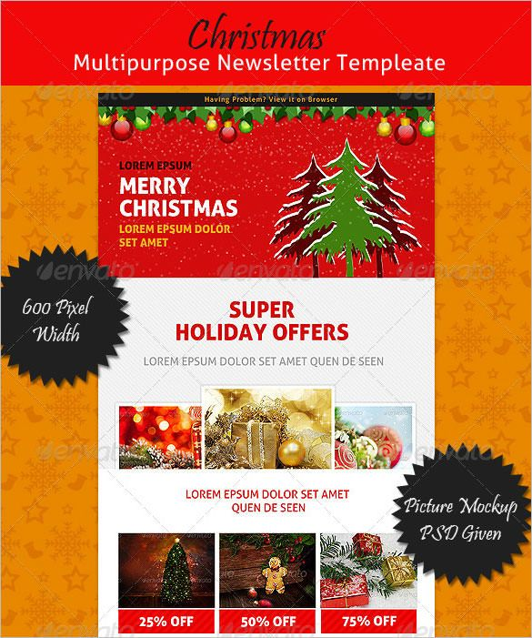This Christmas Multipurpose Newsletter Template Lets You Edit In