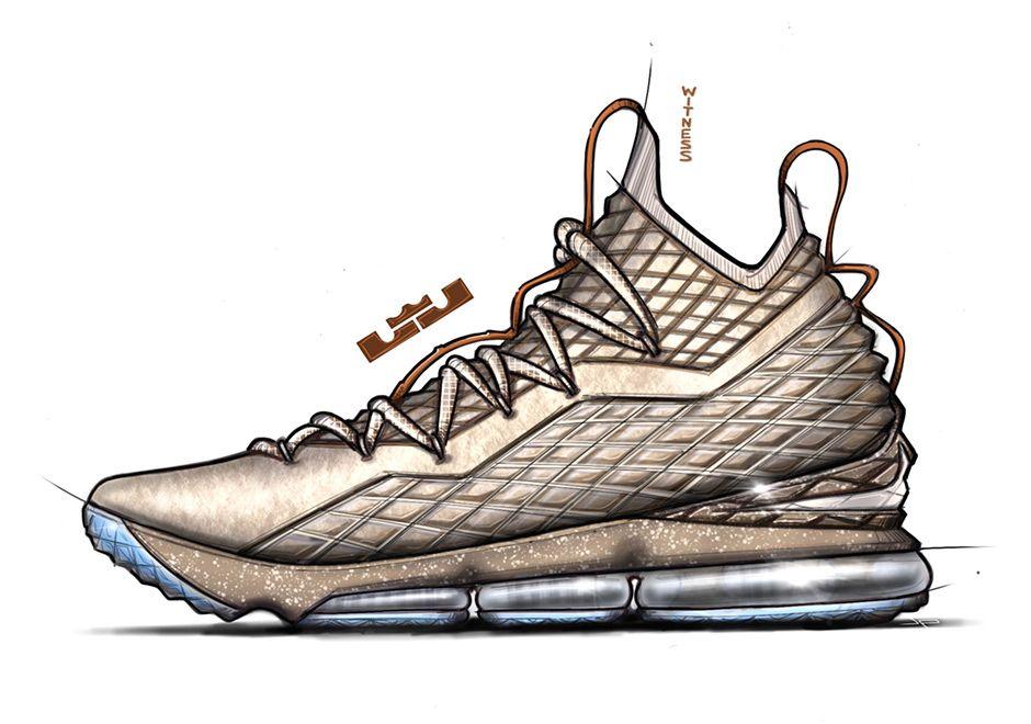 Jason Petrie Nike Lebron 15 Interview Sneakers Sketch Lebron 15
