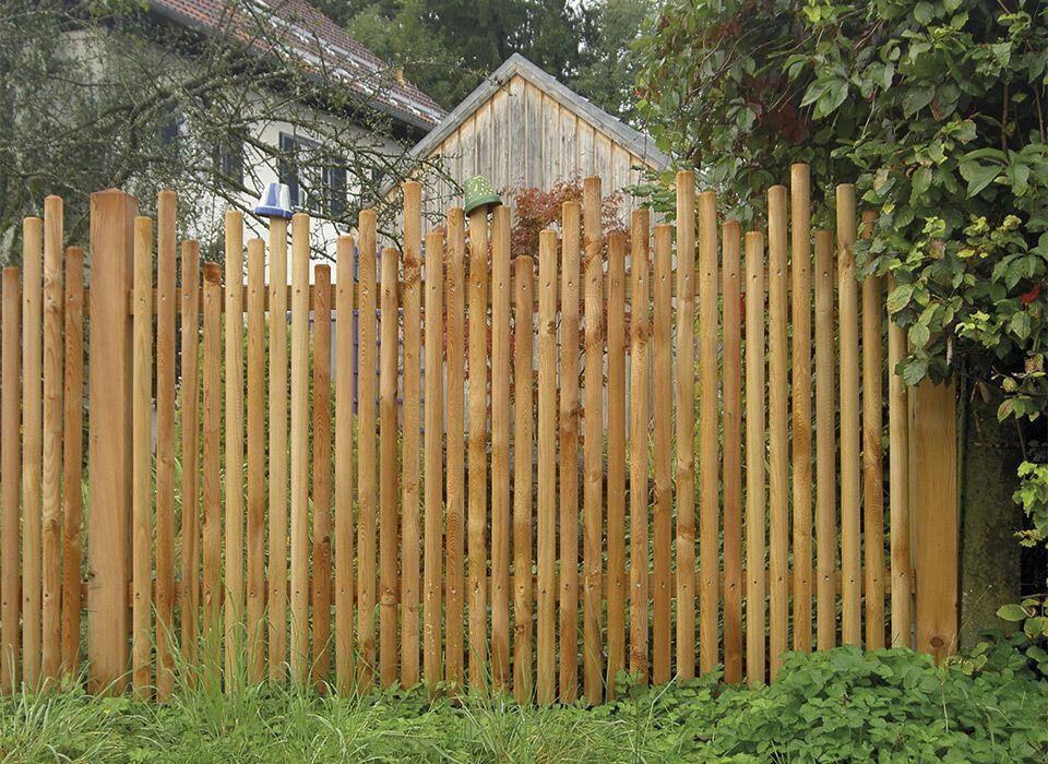 Zaun Naturzaun Weidenzaun Gartenzaun DIY Garten