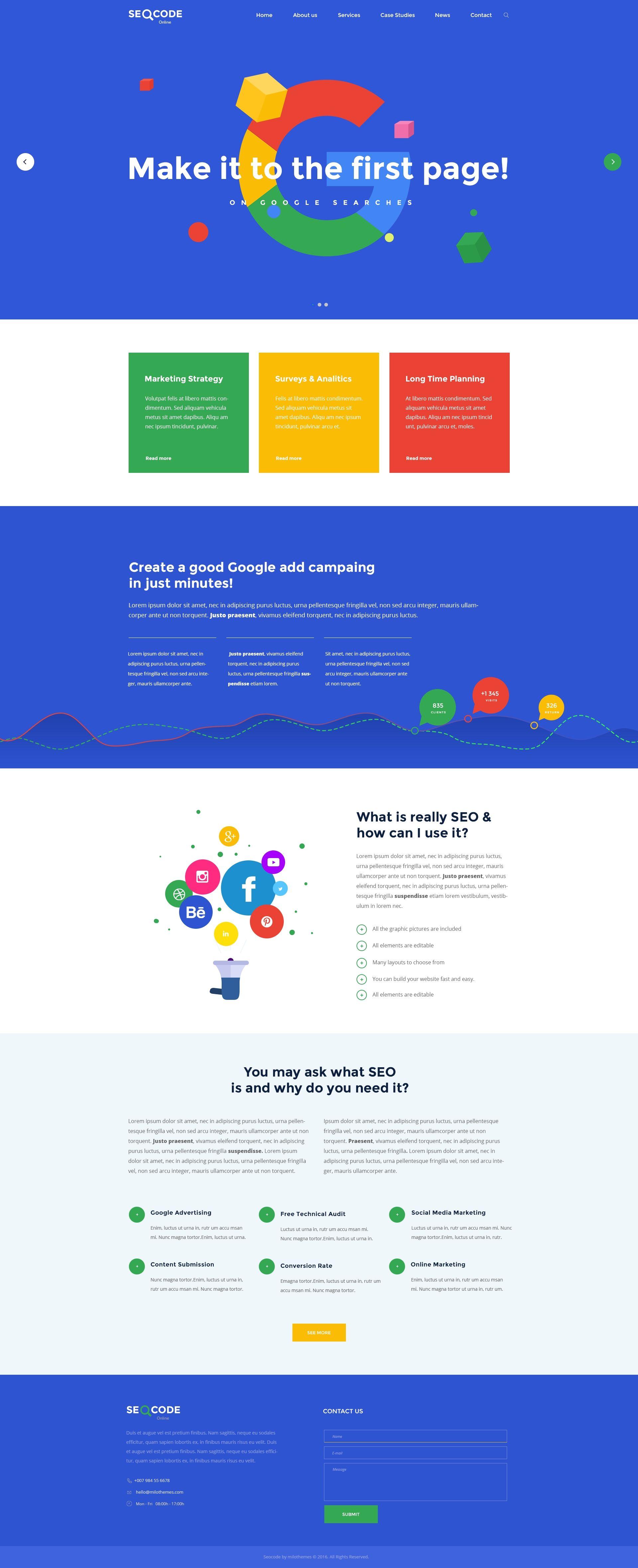 SeoCode - The Ultimate SEO & Online Marketing PSD Template Design ...