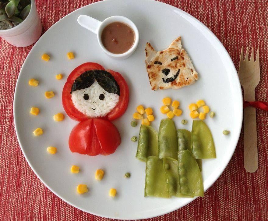 75 pratos divertidos com frutas e legumes para as crian as for Verduras francesas