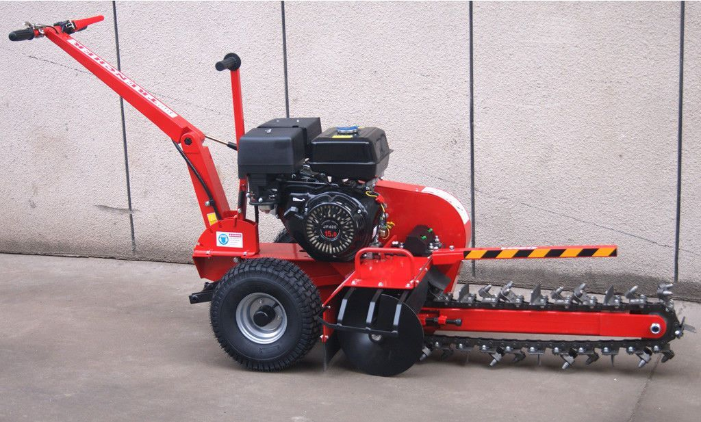 15HP Gas Powered Walk Behind Trencher Digger 24