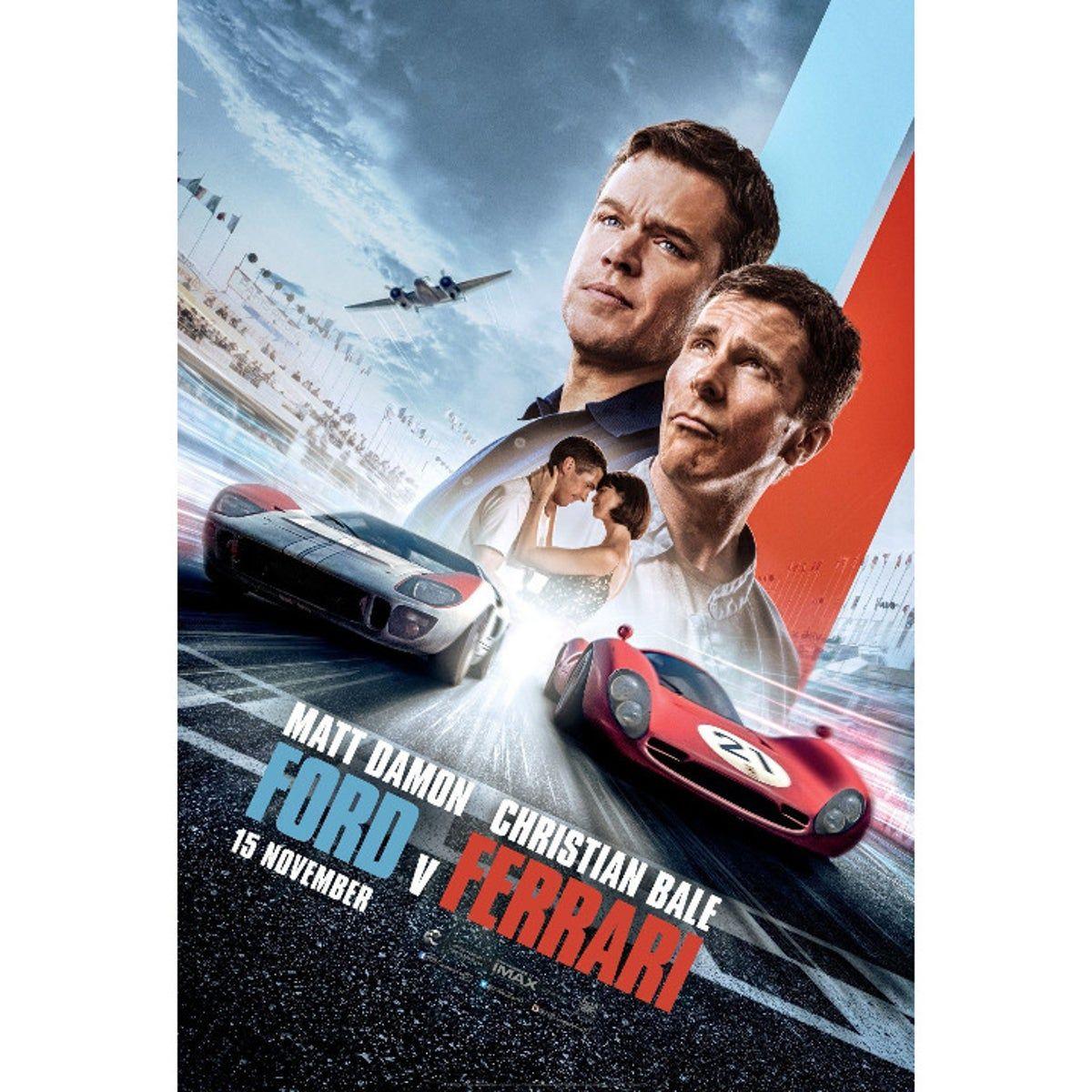 Poster: FORD V FERRARI Movie Review