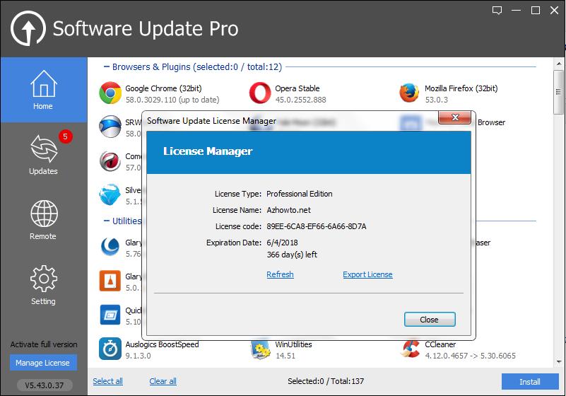 glarysoft software update pro full