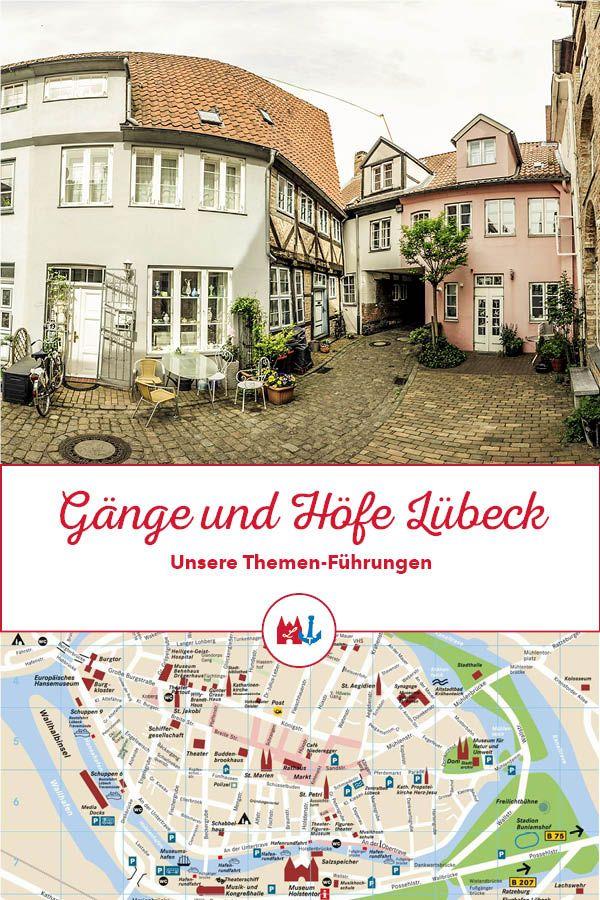 Stadtführung durch Lübeck! Erkundet die Gänge und Höfe in